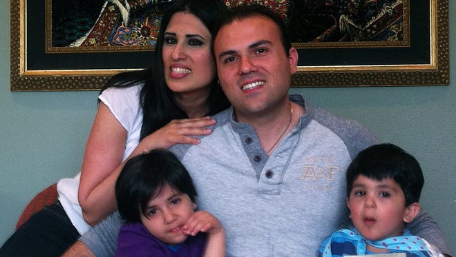 This undated handout photo courtesy of the American Center for Law and Justice shows  Iranian convert to Christianity Saeed Abedini with his wife, Naghmeh, and their two children.