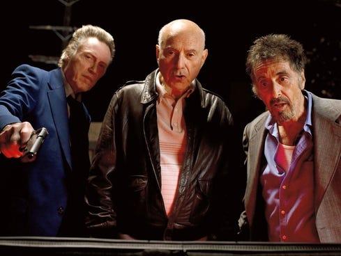 Christopher Walken, from, left, Alan Arkin and Al Pacino find their