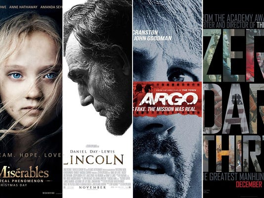 oscar 2013 best picture posters