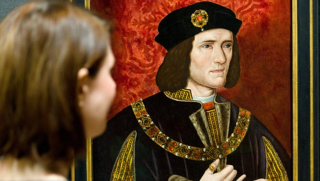 A painting of Britain's King Richard III by an unknown artist is displayed in the National Portrait Gallery in London.