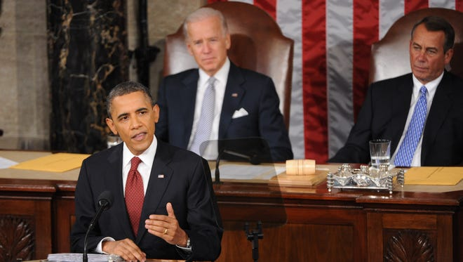President Obama delivers the 2012 State of the Union Address.
