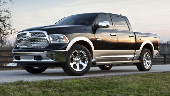 The Ram 1500 pickup (the updated 2013 is shown here) will get a diesel engine option for the 2014 model.