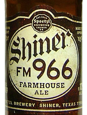 Shiner FM 966 beer from Spoetzl Brewery of Shiner, Texas is 5.7 percent ABV.