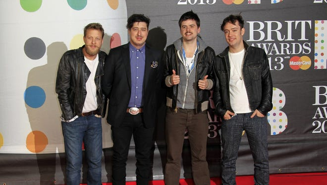 Mumford & Sons, from left: Ted Dwane, Marcus Mumford, Country Winston and Ben Lovett.