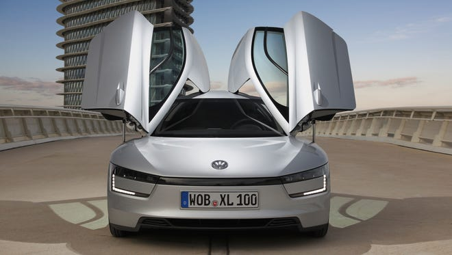 The XL1 from Volkswagen is the most fuel-efficient production car in the world, with a European combined fuel consumption rating of 261 mpg. Thanks to its plug-in hybrid system, this two-seat vehicle can also cover up to 32 miles as a zero-emissions vehicle in all-electric mode.