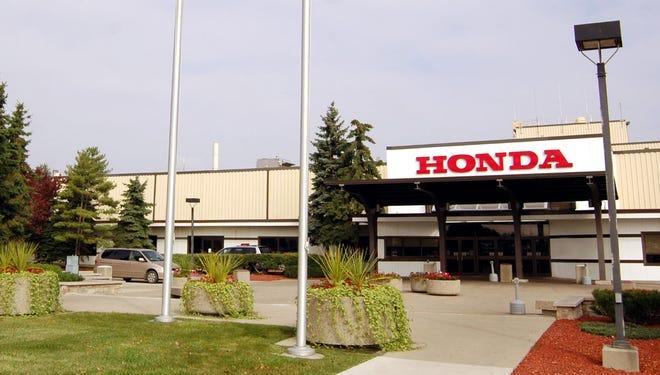 Exterior of Honda's Marysville Auto Plant in Ohio.