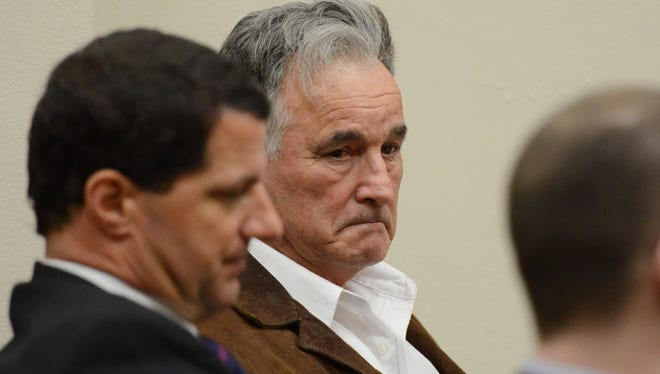 Eugene Irvin Collier, 68, of Turner, waits to hear the verdict on day four of his trial in the courtroom of Judge Lindsay Patridge at the Marion County Courthouse. Collier is charged with second degree manslaughter for allegedly fatally shooting a man he thought was game on private property near Silver Falls State Park on Oct. 21, 2011.