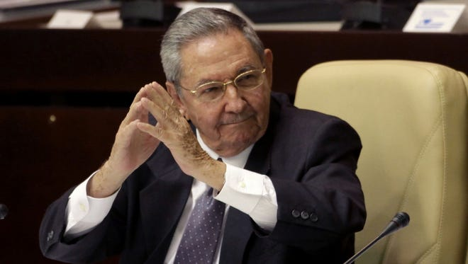 Cuba's President Raul Castro during the closing session at the National Assembly in Havana, Cuba, Sunday.