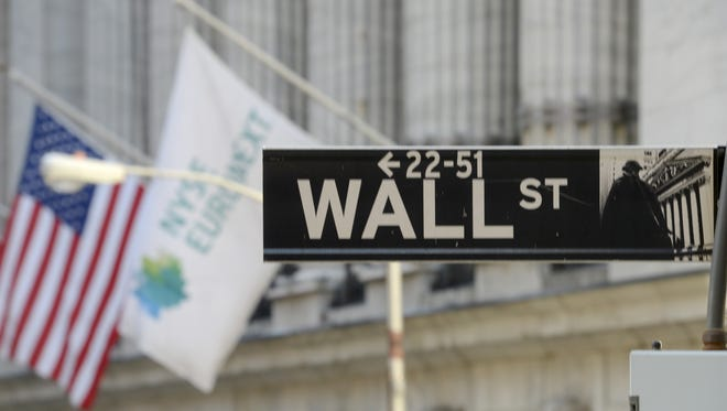 The sign for Wall Street in New York.