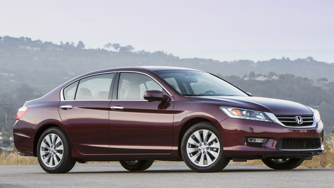 Consumer Reports says its data show the redesigned Honda Accord -- a 2013 EX-L V-6 is shown -- scored better than any other vehicle of any type or price in the past year.