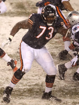 Chicago Bears offensive tackle J'Marcus Webb.