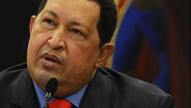 Venezuelan President Hugo Chavez speaks during a press conference in Caracas on Oct. 9.