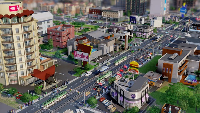 """A screenshot of the new """"Sim City"""" game"""