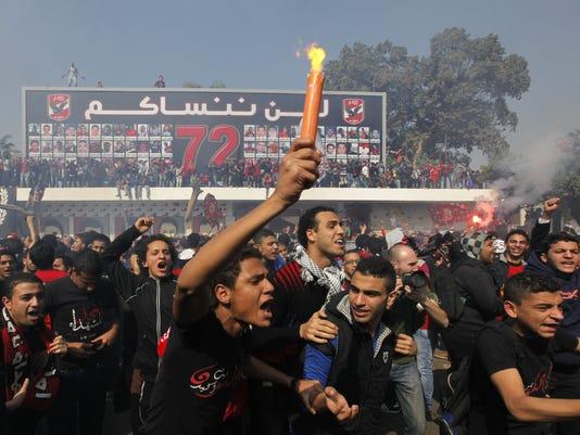 egypt al-ahly soccer fire