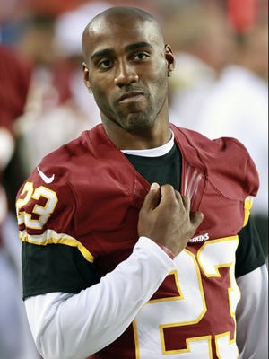 Former Washington Redskins defensive back DeAngelo Hall has 39 interceptions in his nine-year career.