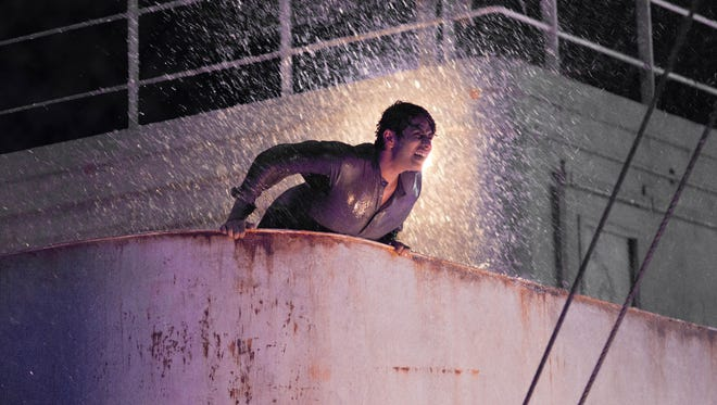 Suraj Sharma in the storm scene from 'Life of Pi.'