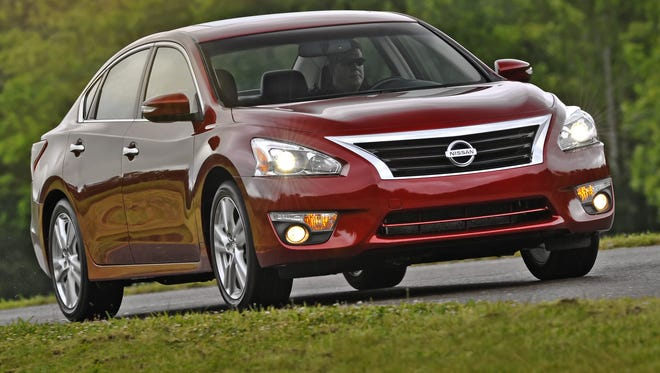 Nissan's fifth-generation 2013 Altima mid-size sedan, the brand's sales volume leader, was is among five 2013 models recalled for a potentially faulty airbag sensor.