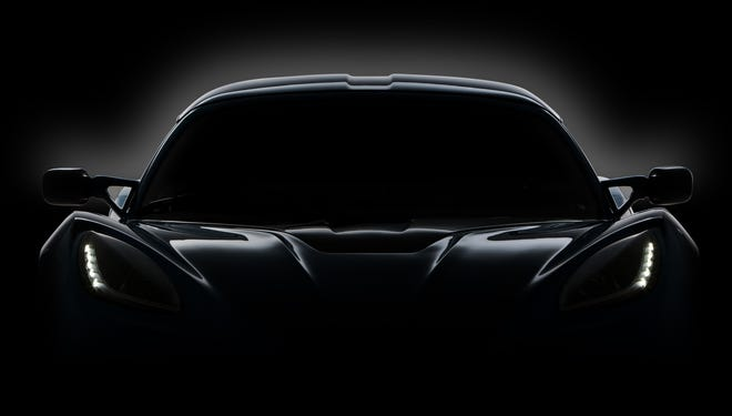 Detroit Electric, revived as an automaker in 2008, says it's now ready to build a battery sports car, resembling this shadowed teaser, this year.