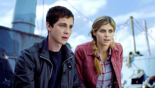 Logan Lerman and Alexandra Daddario star in 'Percy Jackson: Sea of Monsters.'