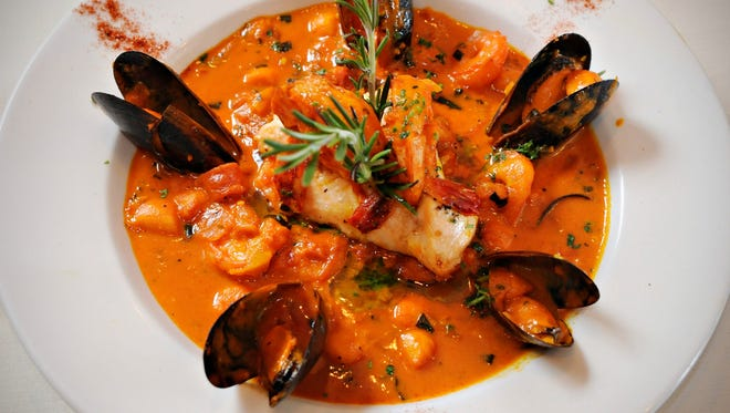 A Mediterranean style bouillabaisse is featured at the Cafe Renaissance in Waite Park, Minn., on March 20. A taste of the Mediterranean may just reduce one's chances of having a heart attack or stroke.