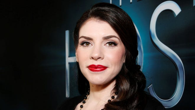 Author Stephenie Meyer arrives at the L.A. premiere of 'The Host' at the ArcLight Hollywood.