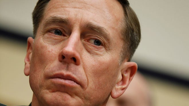 David Petraeus testifies during a hearing before the House Armed Services Committee in 2010 when he was commander of the U.S. Central Command.