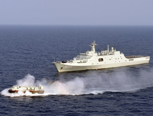 Chinese navy makes waves in South China Sea