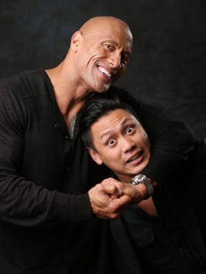 Two fans, one film: Director and life-long fanboy  Jon M. Chu, right, teams up with fellow fan Dwayne Johnson for 'G.I. Joe: Retaliation,' the first in the franchise for both men.