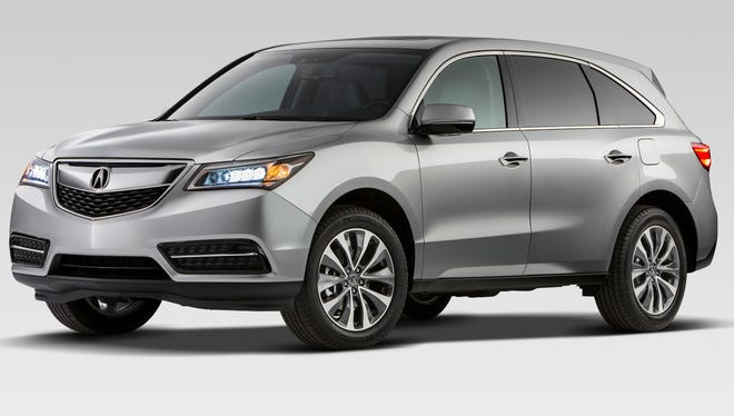 The 2014 Acura MDX introduced today at the New York Auto Show.