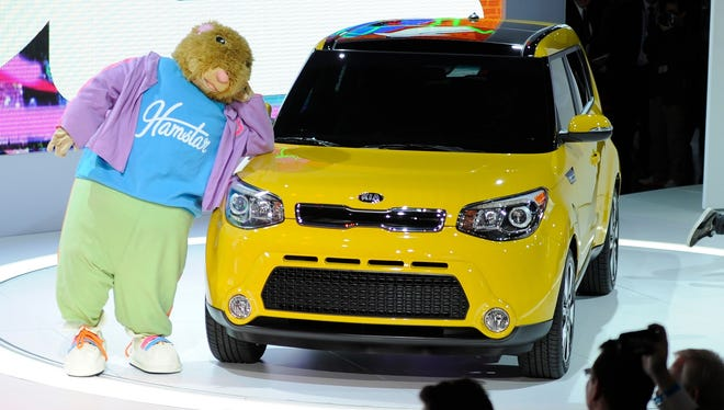 Kia brought out the Hamstar hamster mascots to help show off the new Soul.