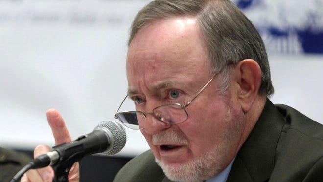 "Rep. Don Young, R-Alaska, speaks at a forum in Fairbanks, Alaska, on Oct. 16, 2012. Young apologized Friday for using a racial slur to describe migrant farmworkers, saying ""it was a poor choice of words."""