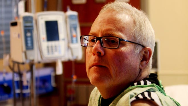 Mark Klaserner of Milford, Mich., a patient at St. Joseph Mercy Hospital in Ann Arbor, Mich. talks about his ongoing battle with fungal meningitis in Dec.