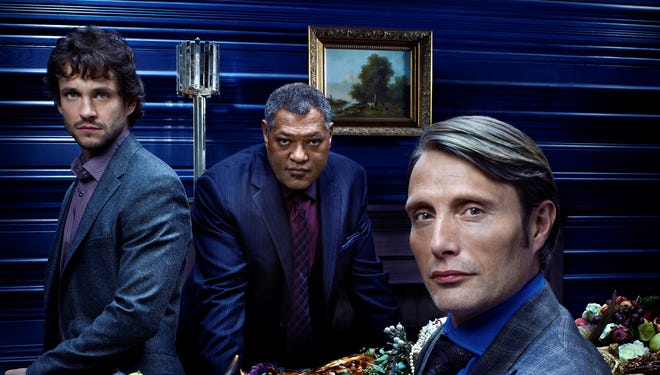 Mads Mikkelsen, Hugh Dancy and Laurence Fishburne star in Hannibal, renewed for a second season by NBC.