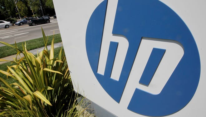 Sign marks Hewlett-Packard's headquarters in Palo Alto, Calif.