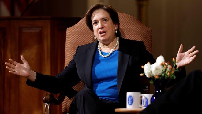 Supreme Court Justice Elena Kagan speaks in Washington on Dec. 13, 2012.
