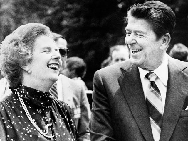 Image result for Ronald Reagan and Margaret Thatcher