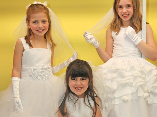 0418c2c7343 Communion candidates say yes to first special dress