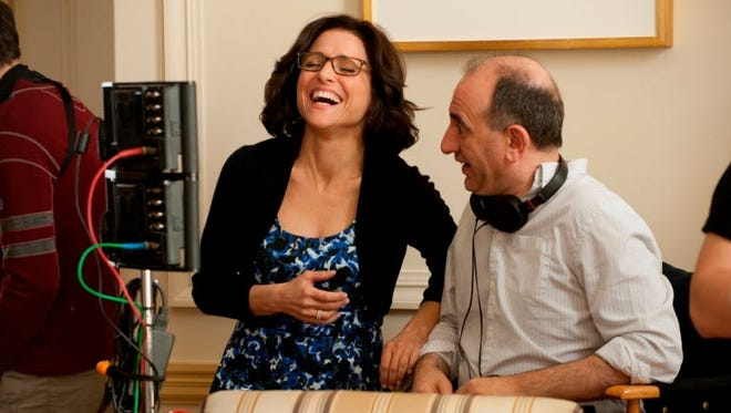 'Veep' star Julia Louis-Dreyfus and director Armando Iannucci come up for air during a marathon shoot: 25 pages' worth of script, when 12 is the norm.
