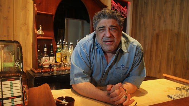 """Vincent Pastore, who starred in """"The Sopranos,: on the set of his new play called """"Wild Children,: at the Nyack Village Theater April 4, 2013. The show, directed by Richard Quinn, runs April 12-28."""