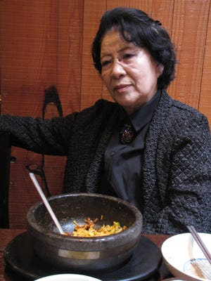 """At a Seoul restaurant Monday, North Korean defector Kim Young Soon, 76, recalls how she used to spend April 15, the North's major holiday known as the """"Day of the Sun."""""""