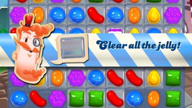 A screenshot from 'Candy Crush Saga'