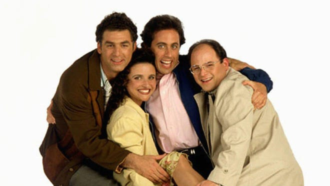 "Michael Richards, from left, Julia Louis-Dreyfus, Jerry Seinfeld and Jason Alexander were the primary actors in NBC's television series ""Seinfeld."""