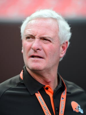 Cleveland Browns owner Jimmy Haslam monitors the sidlelines at a preseason game in Cleveland on Aug. 24, 2012. Haslam owns Pilot Flying J.