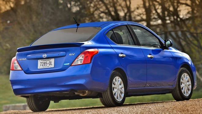 The 2014 Nissan Versa sedan has the lowest starting price of any new car in the U.S., $12,780.
