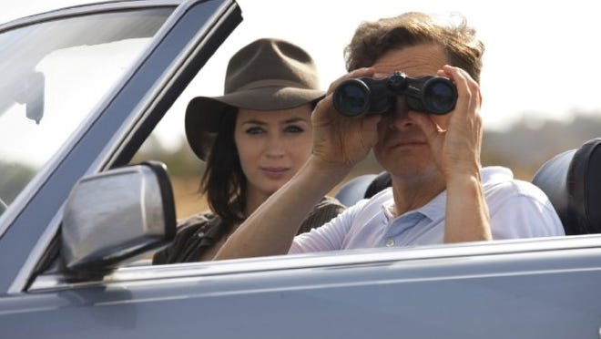 Emily Blunt and Colin Firth are both on a journey to escape their troubles and reinvent themselves in 'Arthur Newman.'