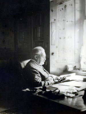 Michael Berolzheimer sits in his den in Bavaria, Germany circa 1925. Berolzheimer, who was Jewish, fled Germany in 1938 and later settled in Mount Vernon, N.Y. He died in 1942.