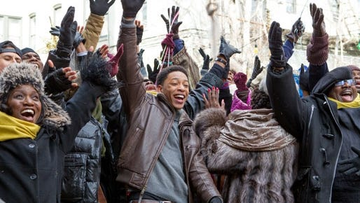 """Newcomer Jacob Latimore, center, on 'Nativity': """"I think anybody would want to be a part of it."""""""