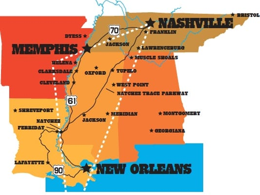 americana music triangle to map home of roots music