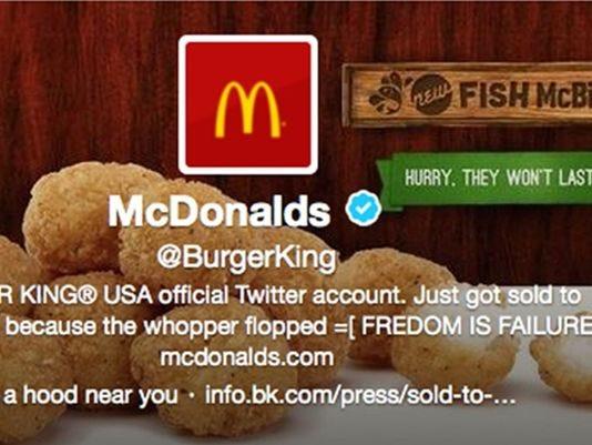 Burger King-Twitter Hacked