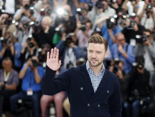 Justin Timberlake in Cannes